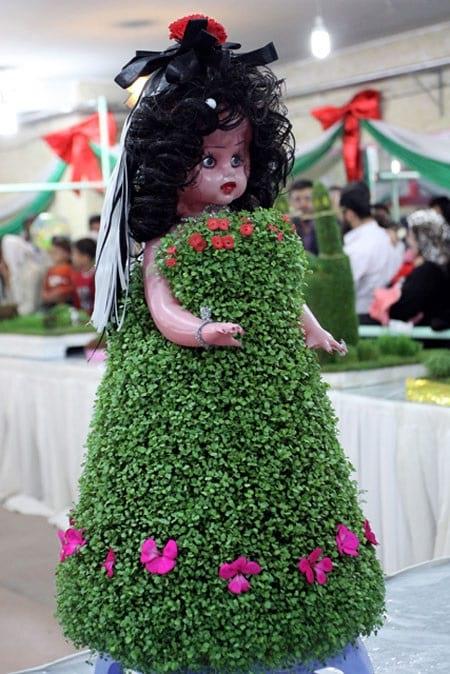 آموزش سبزه روی دامن عروسک کاردستی سبزه روی دامن عروسک