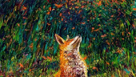 هنرمندی که تنها با انگشتانش این نقاشی های زیبا را کشیده است!
