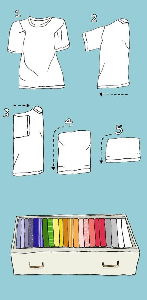 تا کردن لباس (3)