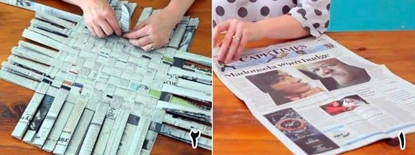 کاردستی سبد روزنامه ای
