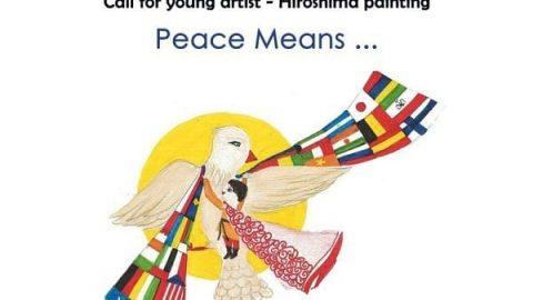 """فراخوان نمایشگاه نقاشی نوجوانان در هیروشیما با موضوع """"صلح یعنی …"""""""