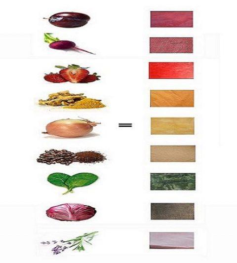 آیا می دانید که می توان با گیاهان و میوه ها لباس ها را رنگ کرد؟