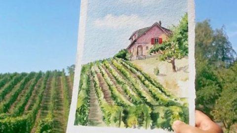 نقاشی روی عکس های طبیعت