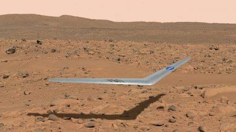 اولین هواپیمای مریخی را ببینید