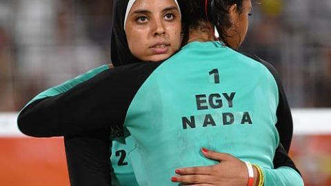 بانوی محجبه والیبال ساحلی مصر