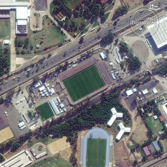 A satellite photo of the Deodoro Stadium in Rio de Janeiro