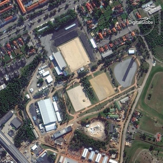 A satellite photo of the Equestrian Center in Rio de Janeiro