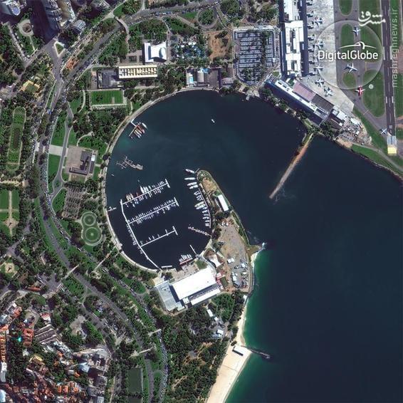 A satellite photo of the Marina da Gloria in Rio de Janeiro