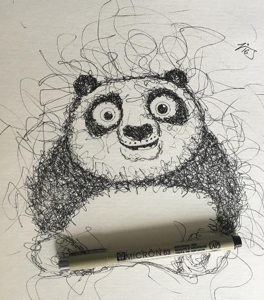 نقاشی هایی از جنس خط خطی