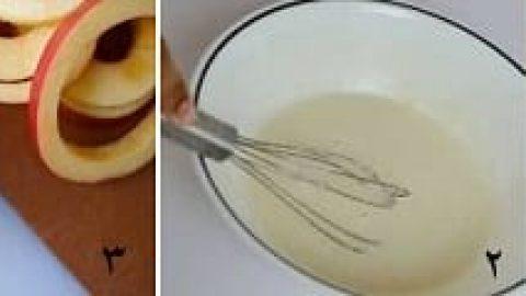 حلقه های سیب کاراملی