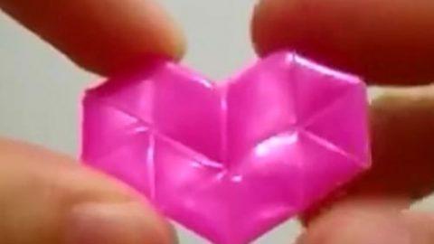 کاردستی ساخت قلب با نی!