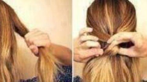 آرایش موها به شکل پاپیونی!