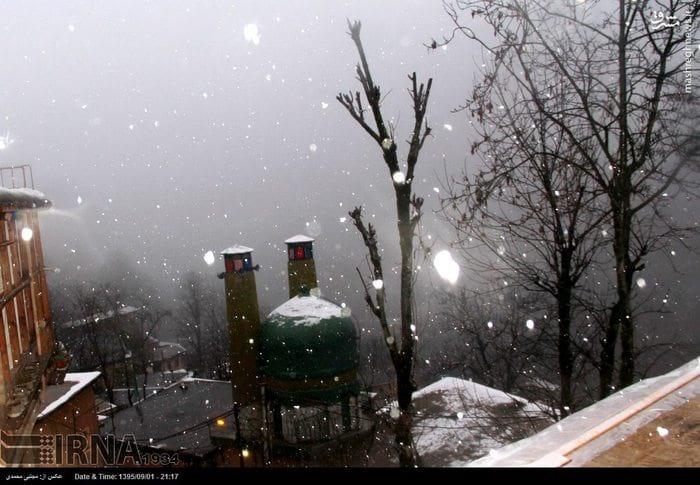 برف پاییزی در ماسوله (1)