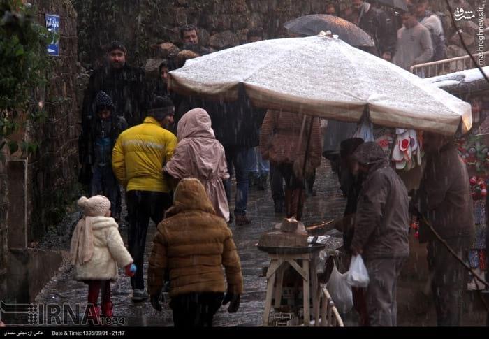 برف پاییزی در ماسوله (5)