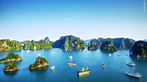خلیج زیبای هالونگ در ویتنام