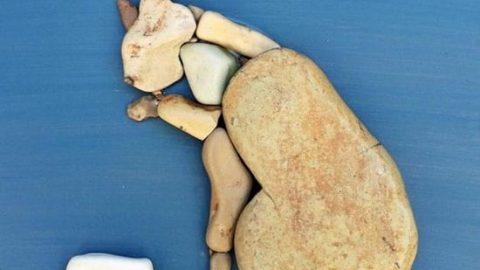 هنرسازی با سنگ های ساحلی!