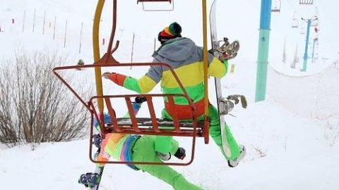 استقبال از پیست اسکی دیزین در سومین روز بازگشایی