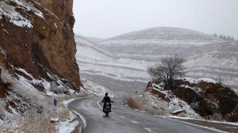 بارش برف زمستانی در بجنورد، شاهرود و میامی