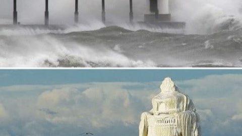 تصاویر قبل و بعد از تحولات زیبای زمستانی!