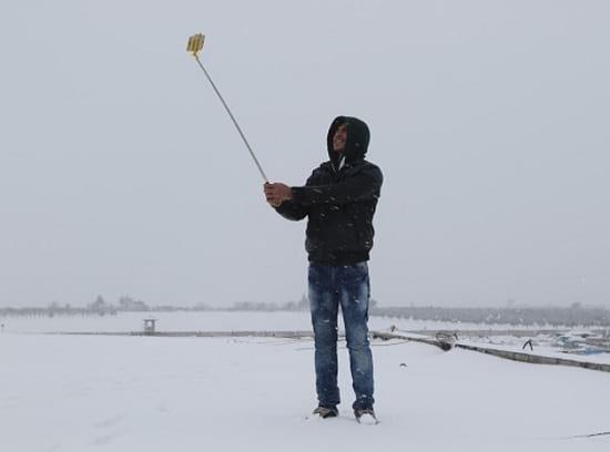 Snowfall in Aleppo