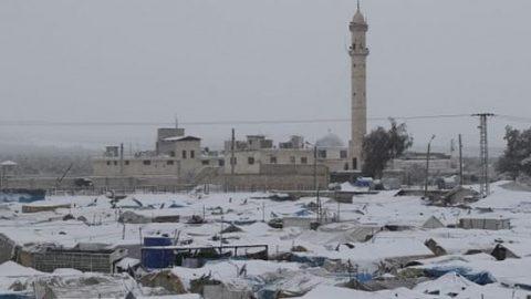 حلب سفید پوش شد!