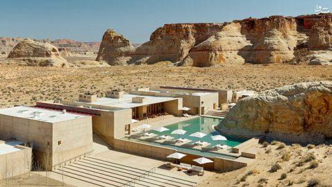 هتلی لوکس در بیابان