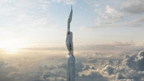ساخت آسمانخراش ۵ کیلومتری برای تصفیه هوا!