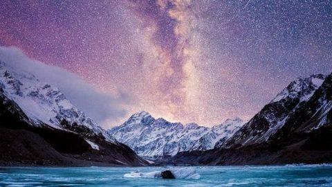 تصاویری بی نظیر از شب های زمستانی نیوزیلند