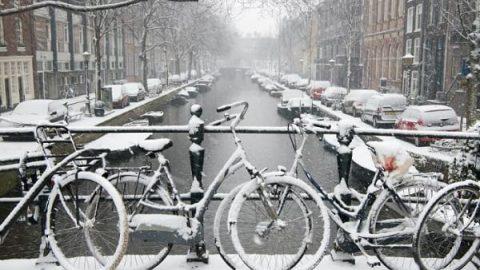 تصاویری از آمستردام سفیدپوش