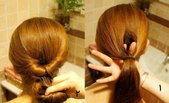 آرایش موها به شکل جمع!