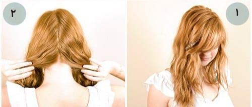 شنیون موها به شکل بافت!