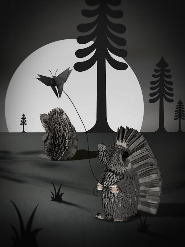 نگاهی به تصویرسازی های سه بعدی با بریده های کاغذ!