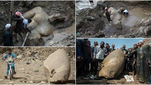 کشف مجسمه ۳۰۰۰ ساله فرعون مصر در قاهره