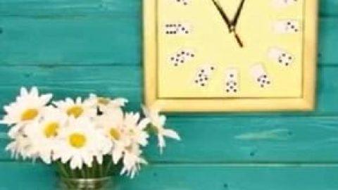 کاردستی ساعت دیواری (ویدئو)