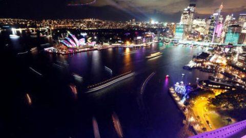 جشنواره تماشایی نور و موسیقی سیدنی استرالیا