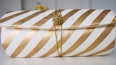کاردستی جعبه کادویی به شکل کیف دستی بسازید!