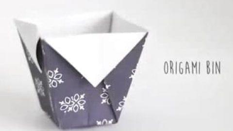 کاردستی سطل اوریگامی