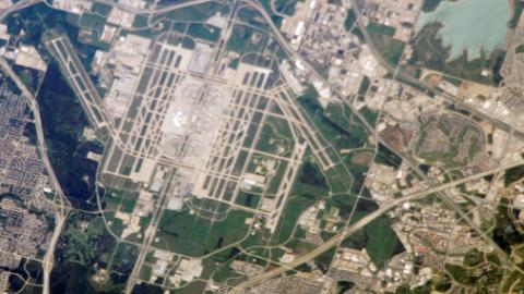 تصاویر فرودگاه های معروف جهان از فضا