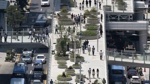 تبدیل بزرگراه متروکه سئول به یک پارک هوایی