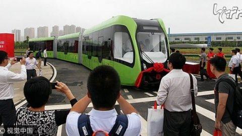قطار بدون راننده چینی، بی نیاز به ریل