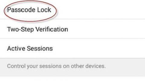 تلگرام را با اثرانگشت و رمز عبور قفل کنید