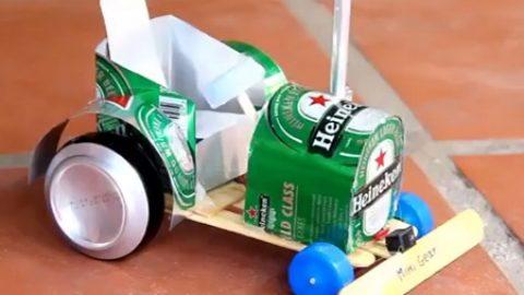 کاردستی ساخت تراکتور با بطری نوشابه (ویدئو)