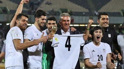 شادی بازیکنان و کادر فنی تیم ملی ایران پس از صعود به جام جهانی ۲۰۱۸ (ویدئو)