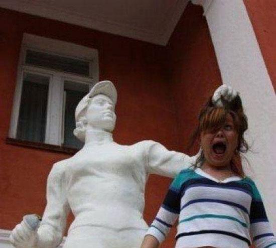 شوخی با مجسمه ها (6)