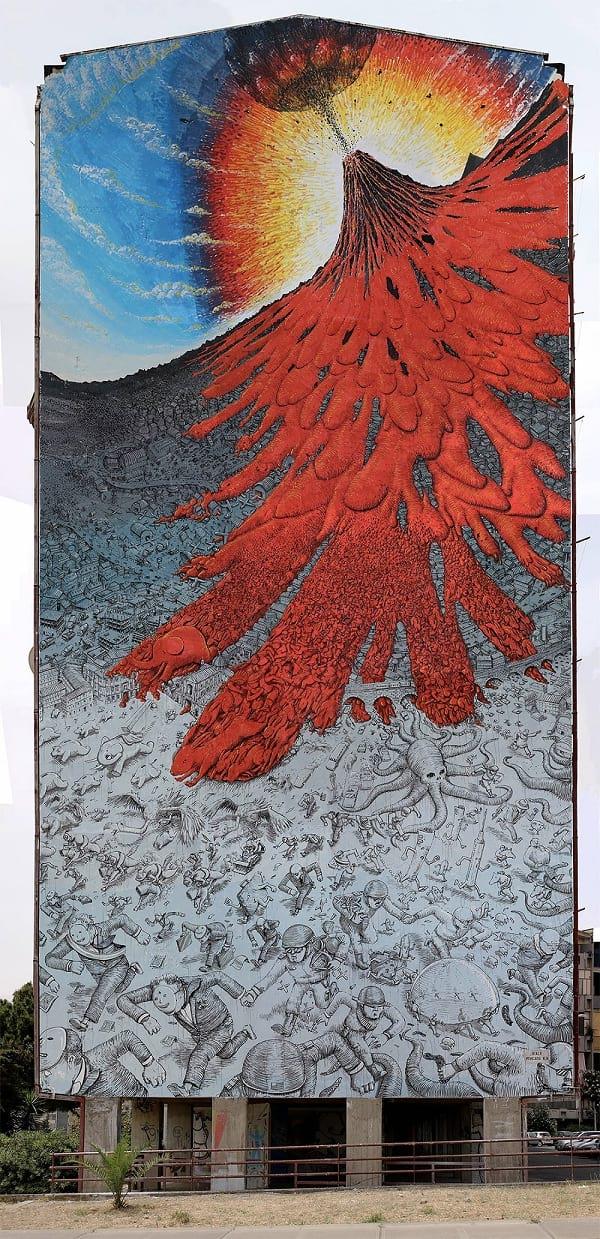 نقاشی های محیطی برای مقابله با خطرات زیست محیطی