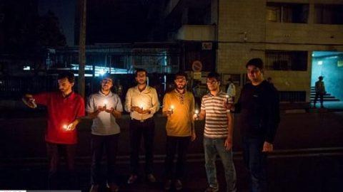 تصاویر همدردی دانشجویان تهرانی با مردم افغانستان