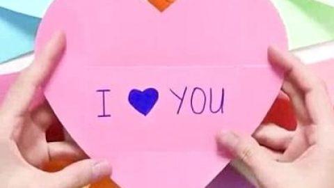 کاردستی پاکت نامه با شکل قلب