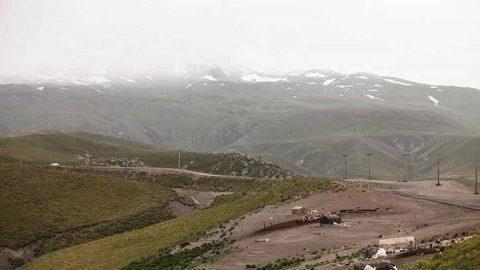 سرما و برف تابستانی در ایران!