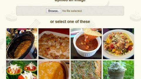 پیدا کردن نوع و طرز تهیه انواع غذا با آپلود تصویر آن!