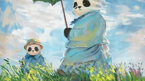 """نسخه """"پاندایی"""" نقاشیهای مشهور"""